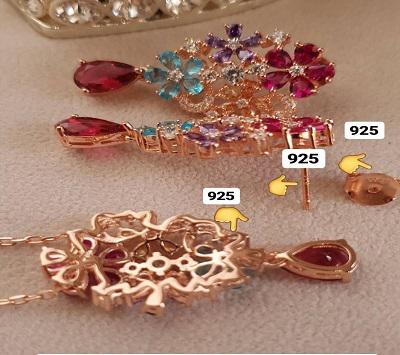 بطورمعمول در کدام قسمتهای جواهرات نقره عدد ۹۲۵ حکاکی می شود؟