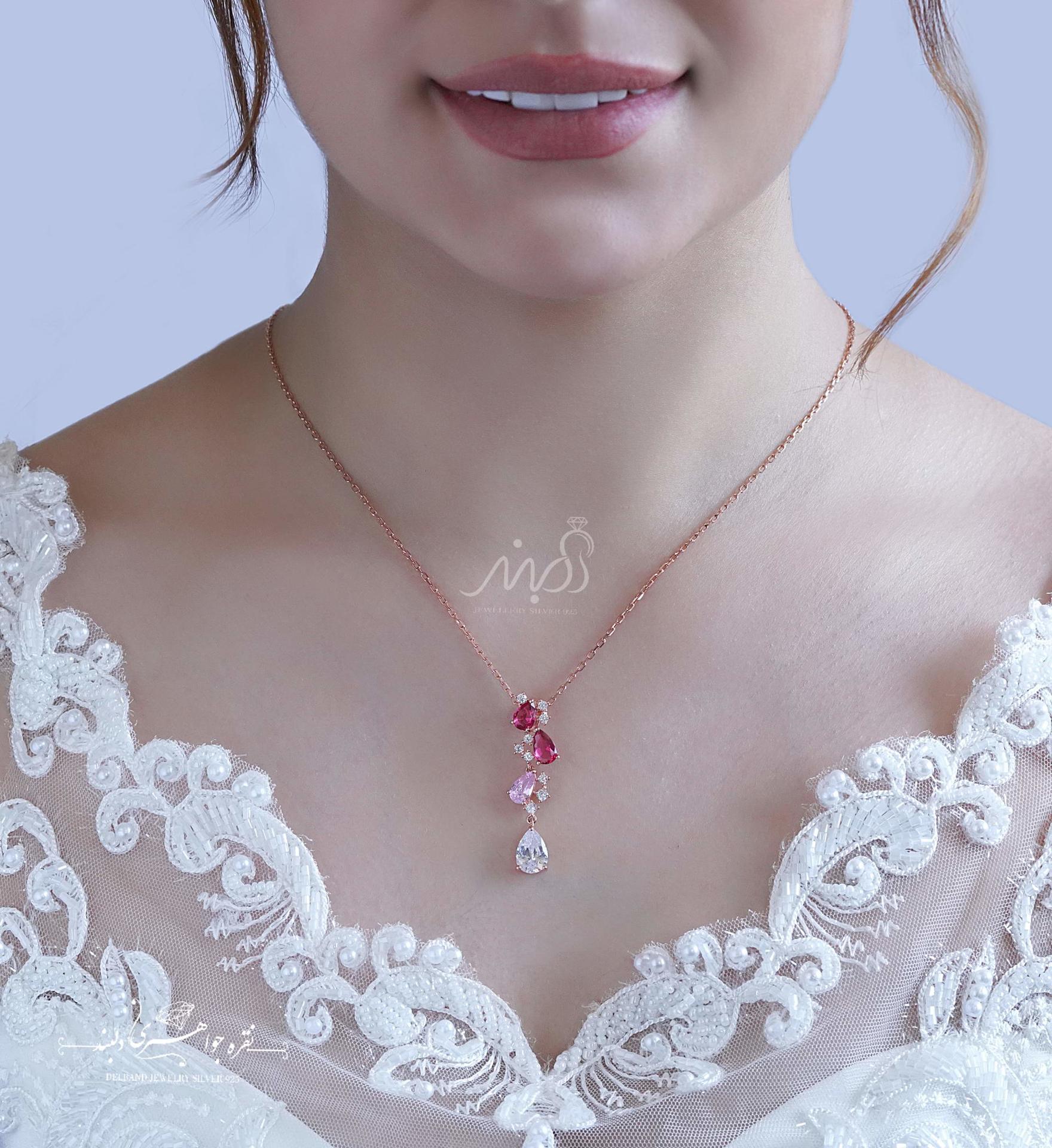 💍نیم ست جواهری لوكس رزگلد؛ نقره عیار ۹۲۵(N_4131)